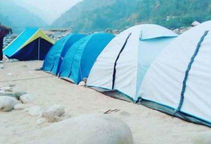 Camping at Dawki Shnongpdeng